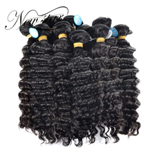 "NEW STAR Wholesale 10 Pieces 10""-34"" Brazilian Deep Wave Bundles Salon Supply Virgin Human Hair Extension Cuticle Aligned Weave(China)"