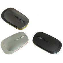 Ultra thin 2.4G Wireless Optical Mouse Hit Cheap Gift with Four Buttons for Laptop Notebook PC By Windows XP Vista System Hot