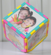 2016 New Magic Cube Photo Frame 360 Rotating Revolving Multi Picture Photo Frame(China)