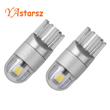 2PCS t10 car led w5w bulb white 6000K 3030 2smd W5w 194 t10 168 led high power wedge bulb auto lamp dome parking light