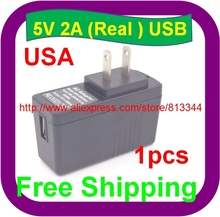 High quality IC 1PCS 5V 2A US USB Charger Power Adapter with USB Charger 10W US charger(China)