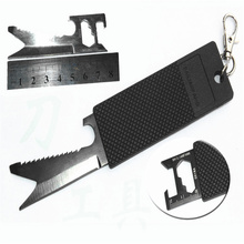 7 in 1 multi-function key card knife outdoor portable knife card credit card foldingknife tool card