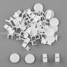 10 Sets of White Round Table & Chair Set 1/50 O Scale - Building Model Materials