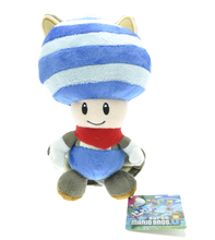 5pcs/lot 20cm Blue Super Mario Bros. U Flying Squirrel Toad Plush Toys Soft Stuffed Toys Figures Toy Plush Doll for Xmas Gifts