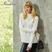 Kinikiss 2017 new autumn women knitwear sweater white casual loose women knitted sweater fashion young winter cashmere sweater