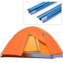 Double layer 4 season double outdoor camping tent winter tent awning ultralight tourist tent sun shelter gazebo tent for camping(China)