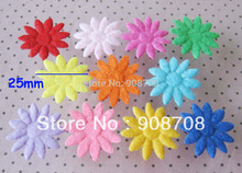 Free Shipping PH004 Sunshin Flower Appliques Fabric Patch 25mm Felt Pads 300pcs Jewelry Ornament
