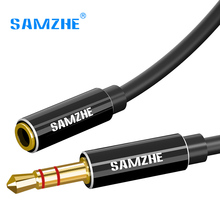 SAMZHE 3.5 mm Audio Extension Cord Aux Cable Extender Male to Female Audio Aux Cord for Headphone Amplifier Laptop Music Player(China)
