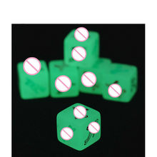 Plastic Noctilucent Sexual love Erotic Dice Night Lights of Sex Fun Glow In The Dark Toys of Adult game Diversity posture tool(China)