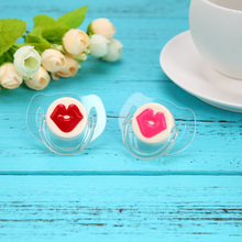 2pcs/lot Silicone Baby Pacifier Funny Novelty Buck Teeth Sausage Lips Baby Child Dummy Soother Nipples Pacy Orthodontic Teat