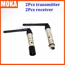 4 Pcs/lot 2.4G Wireless XLR Lighting Connector Wireless DMX 512 Receiver Transmitter Sender Controller DMX Signal 300-400 Meter