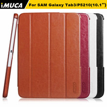 "For Samsung Galaxy Tab3 10.1"" P5200 P5210 tablet case cover stand bag luxury cases folding pu leather pouch iMUCA brand"