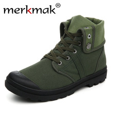 Merkmak Canvas Shoes Men Boots Leisure High Top Ankle for Male Flats Footwear Casual Spring Autumn Camouflage Blue Wholesale