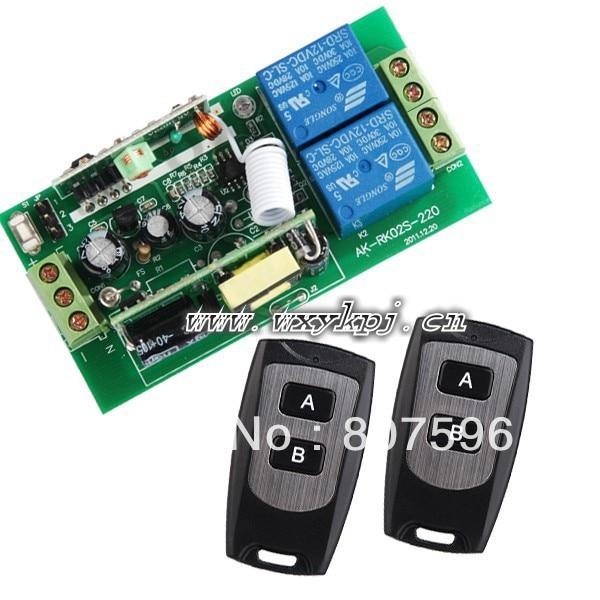 Best Price AC110V 220V 10A High Power 2Channel AC85~250V RF Wireless Digital Remote Control Switch System1Receiver&amp;2Transmitter<br><br>Aliexpress