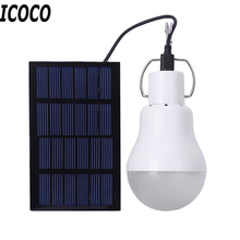 ICOCO Portable Solar Powered LED Lamp Light with High Temperature & Shatter Resistance for Housing Outdoor Activities Emergency