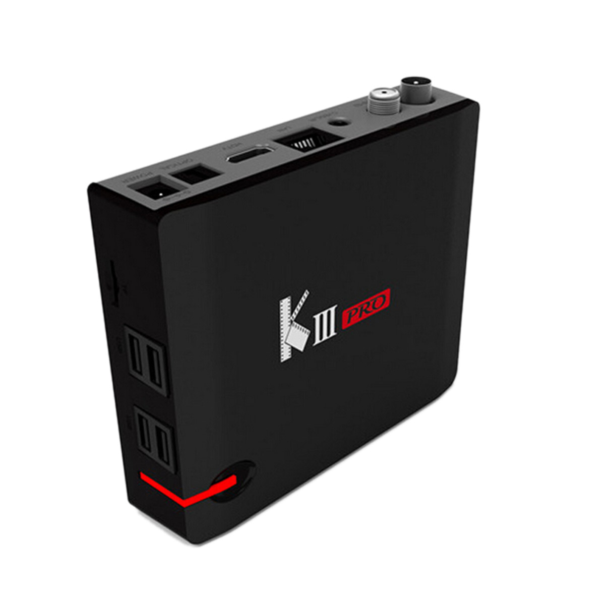 KIII Pro DVB-T2 DVB-S2 Android 6.0 TV Box Amlogic S912 Octa Core 3GB 16GB Smart TV Box 2.4G/5GHz Wifi Bluetooth 4K Media Player