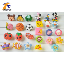 8pcs Cute Cartoon Children Bedroom Furniture Cabinet drawer Dresser Knobs Door pull Handles Soft PVC Handles for Kids