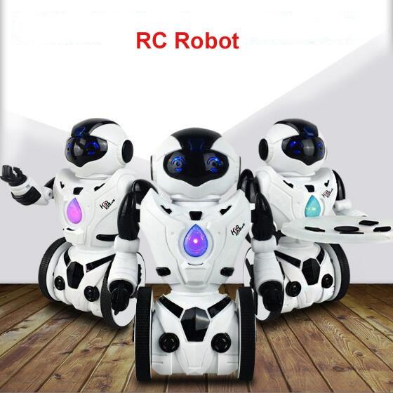 Brand New Remote Control Robot Intelligent RC Balanced Robot Wheelbarrow Dance Battle Children Electric Toy Gift<br>