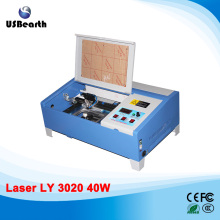 LY 3020/2030 40W CO2 mini Laser Engraving Machine with digital function and honeycomb