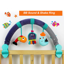 67CM IC Music Rattles Bed Crib Stroller Kids Stuffed Doll With 3 Cute Soft Hand Bell Baby Multifunctional Plush Toys  D006