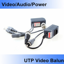 5 Pair CCTV Camera Audio Video Balun Transceiver BNC UTP RJ45 Video Balun, with Audio, Video and Power over CAT5/5E/6 Cable