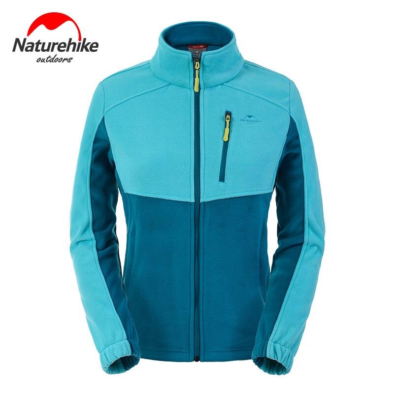 Naturehike Womens Outdoor Winter Fleece Jacket Thermal Stand Collar Zipper Coat Hiking Clothes<br><br>Aliexpress