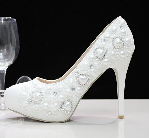 11CM stiletto thin high heeled women wedding party pumps shoes TG566 pearls crystal rhinestones dance dress proms parties shoe<br><br>Aliexpress