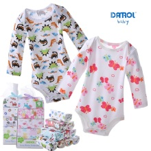 DANROL Baby Bodysuits Newborn Cotton Body Baby Long Sleeve Underwear Infant Boys Girls Pajamas Clothes 5pcs/lot