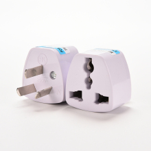 1PC Universal EU UK US GER AU CHN Plug Adapter European Germany Australia China Power Plug Socket White Travel Converter Plug(China)