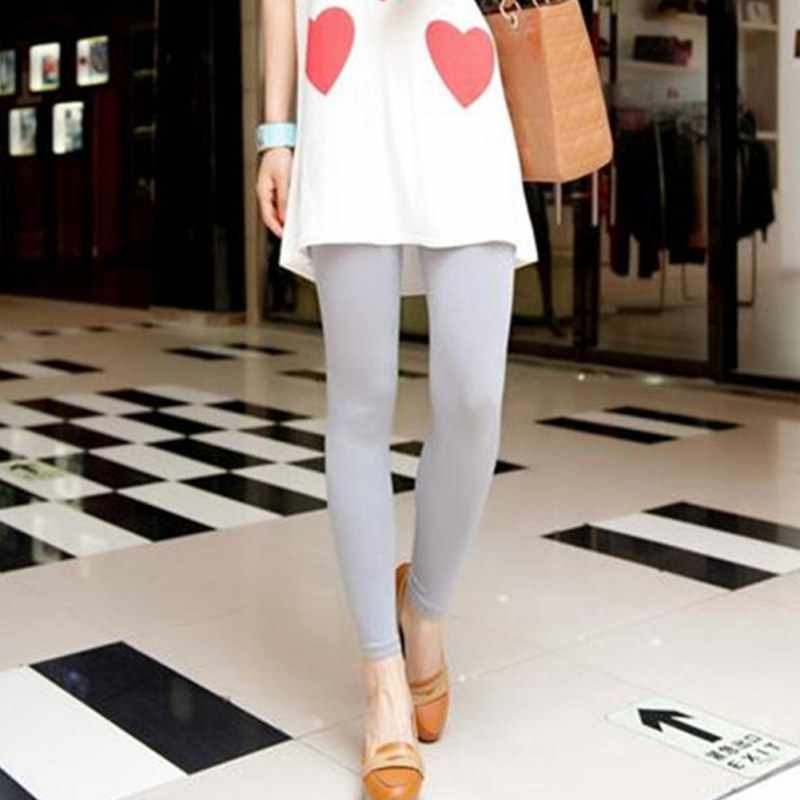 244c45ce226e Newest Women Stretch Slim Soft Legging Casual Leggings High Elastic Waist  Solid Candy Color Comfortable Pant