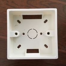 86mm x 86mm Home Office Plastic Back Box Junction Box for General Using Wall Switch Push Button Square Panel Socket Face Plate