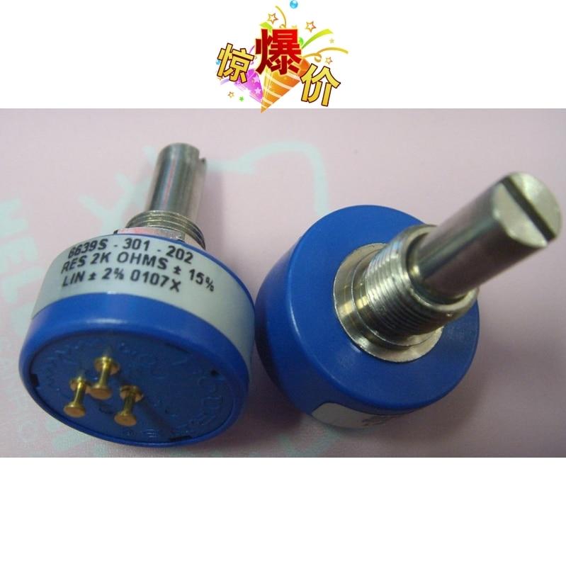 [VK]  conductive plastic long life potentiometer 6639S-301-202 2K switch<br>