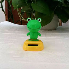 Retail Package Free Shipping Swing No Battery Novelty Home& Car Decoration Flip Flap Solar Toys Solar Dancing Frog Style Doll(China)