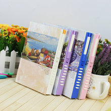Fashion Notebook Korea Stationery Password Diary Lock Notepad  European Landscape Agenda School Supplies Xmas Gift Journal Diary