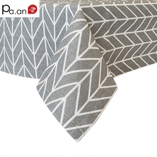 Gray Cotton Linen Table Cloth Geometric Arrow Printed Rectangle Dust Proof Covers for Tables Desk TV Soft Home Decor Cloth Pa.an