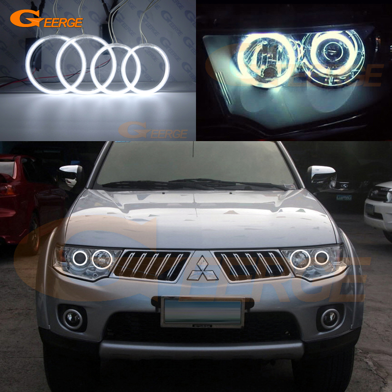 For Mitsubishi Challenger Pajero Sport 2008-2014 Excellent Ultra bright headlight illumination CCFL Angel Eyes kit Halo Ring<br>