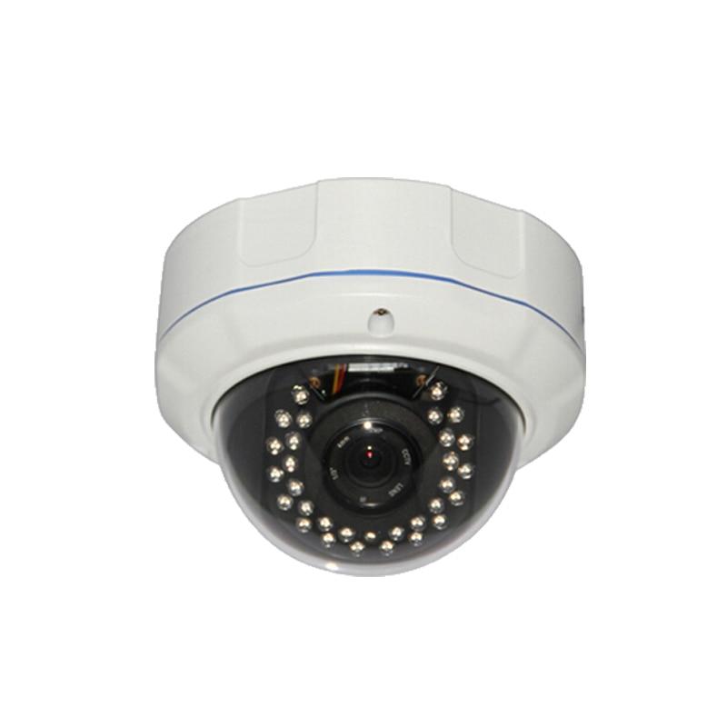 Indoor hemisphere infrared IP camera infrared surveillance security H.264 P2P POE Audio microphones<br>
