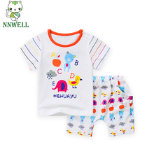 NNW Small Children's Garments No Open Pants Baby Cloth Set 16 Lovely Carton Design 12 Mouth to 5T Baby Cute Baby Suit