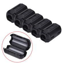 5pcs Black Ferrite Core Cable Filter Nickel-zinc Noise Suppressor EMI RFI Clip Choke Ferrite Filters 3.5mm