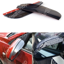 Sale Universal Car Rearview Back Mirror Eyebrow Blades Side Mirror Flexible Sun Visor Shade Rain Cover Water Guard Accessory PVC