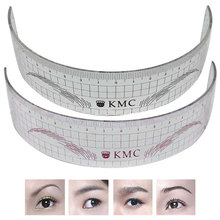 New Permanent Makeup Stencils Plastic Eyebrow Ruler Tattoo Radian Ruler Shaping Tool for Beginner HJL2017(China)