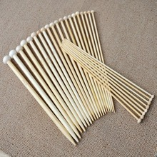 36Pcs 18 Sizes Bamboo Crochet Knitting Needles Single Tip Point Round Needles DIY Weaving Tools High Quality