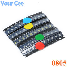 50pcs 0805 SMD LED light Package 5 Colors Red White Green Blue Yellow 0805 Light Emitting Diode Set Wholesale(China)