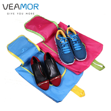 VEAMOR Shoes Bags Polyester Travel Pack Shoe Pouch Waterproof and Dustproof Pink Blue Travel Shoes Storage bags 5pcs/set B007