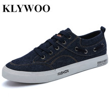 KLYWOO New Fashion Mens Casual Shoes Breathable jeans Canvas Shoes Mens Sneakers Summer Brand Luxury Fashion Mens Driving Shoes(China)