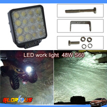 4 Inch 48W LED Work Light lamp Bar for Indicators Driving Offroad Boat Car Tractor Truck 4x4 SUV ATV Flood  48W LED Work Light