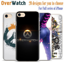 Hot Fashion Game Overwatch D.Va Reaper Gemji Mccree Phone Case Cover Shell For Apple iPhone 7plus 7 6splus 6s 6plus 6 5 5s se