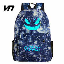 2016 New Gengar Backpack Batman Bag Attack On Titan Backpack For Teenagers Fairy Tail Backpack Naruto Backpacks Tokyo Ghoul Bags