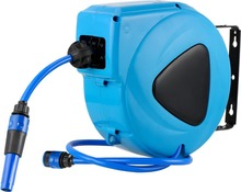 High quality Wall auomatic retractable flexible watering pipe cart garden water hose reel 10m wtih CE and Rohs