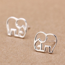 Trusta Women's 100% 925 Sterling Silver Jewelry Fashion cute Tiny Elephant Stud Earrings Gift for Girls Friend Kids Lady DS27(China)